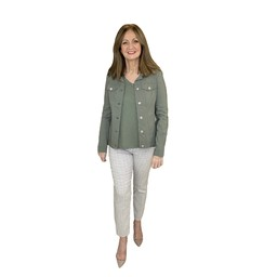 Robell Trousers Happy Jacket in Ivy Green