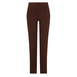 Robell Marie Fleece Lined Trousers in Chocolate