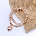 Heidi Heart Bracelet - Rose Gold