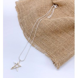 Lucy Cobb Jewellery Tia Two Tone Star Short Necklace in Silver Gold