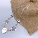 Bailey Disc Short Necklace - Silver/Rose Gold