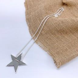 Lucy Cobb Jewellery Sadie Star Necklace  in Grey