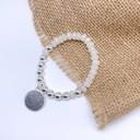 Callie Circle Charm Bracelet - Silver