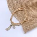 Beaded Tassel Bracelet - Gold