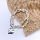 Harper Heart Bracelet - Silver