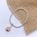 Circle Charm Bracelet - Silver