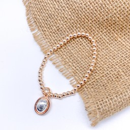 Lucy Cobb Jewellery Circle Charm Bracelet in Rose Gold