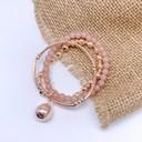 Layered Beaded Bracelet - Rose Gold