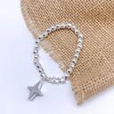 Star beaded Bracelet - Silver