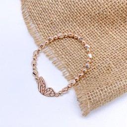 Lucy Cobb Jewellery Butterfly Wing Bracelet  in Rose Gold