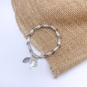Tree of Life Beaded Bracelet - Silver