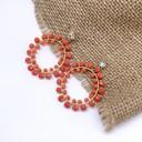 Earrings 1066 - Coral