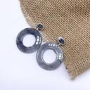 Earrings 0786 - Grey