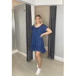 Lucy Cobb Eleanor Denim Tunic - Denim Blue