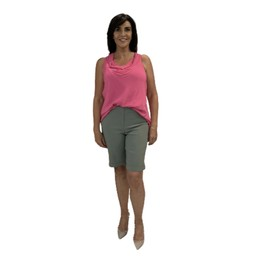 Robell Trousers Bella 04 Shorts - Ivy Green