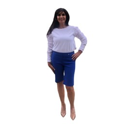 Robell Trousers Bella 04 Shorts - Royal