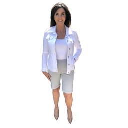 Robell Trousers Bella 04 Shorts - Stone Grey