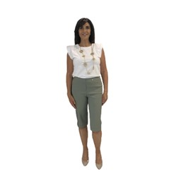Robell Trousers Bella 05 Bermuda Shorts in Ivy Green