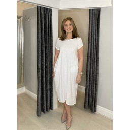 Lucy Cobb Taylor T Shirt Dress in White