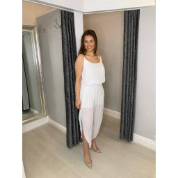 Lucy Cobb Elasticated Waist Lightweight Jumpsuit - White