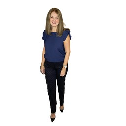 Robell Trousers Marie Octagon Print Trousers - Navy