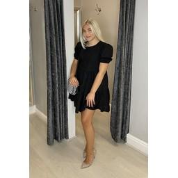 Lucy Cobb Serenity Smock Dress in Black
