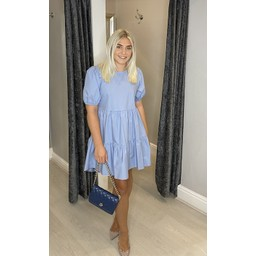 Lucy Cobb Serenity Smock Dress in Pale Blue