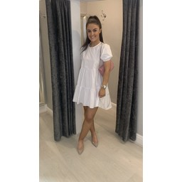 Lucy Cobb Serenity Smock Dress in White