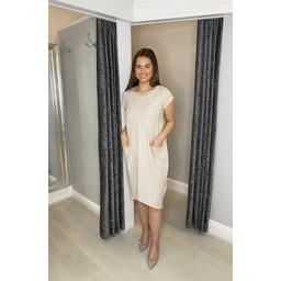 Lucy Cobb Curve Taylor T Shirt Dress ( Curve ) - Stone