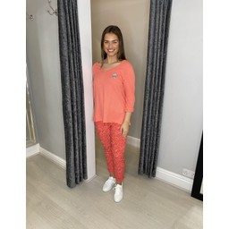Lucy Cobb Magic Joggers - Bali in Coral