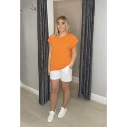 Lucy Cobb Tallie Cap Sleeve T-shirt - Orange