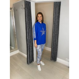 Lucy Cobb Leia Sequin Star Hoddie in Royal