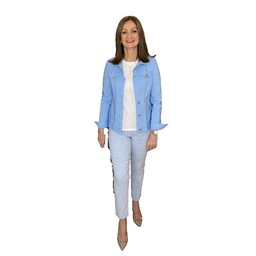 Robell Trousers Happy Jacket in Pale Blue
