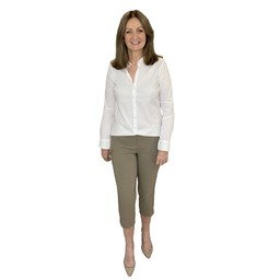 Robell Trousers Rose 07 Capri Trousers in Taupe