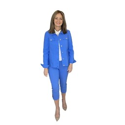 Robell Trousers Happy Jacket in Azure Blue