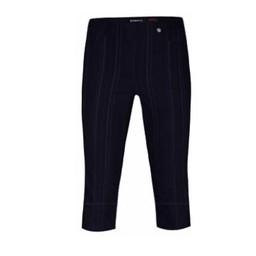 Robell Trousers Bella 05 Seersucker Shorts - Navy