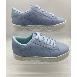 Lucy Cobb Footwear Kia Quilted Platform Trainers in Blue