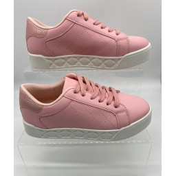 Lucy Cobb Footwear Kia Quilted Platform Trainers in Pink