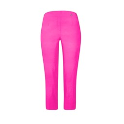 Robell Trousers Marie 07 Capri Trousers in Neon Pink