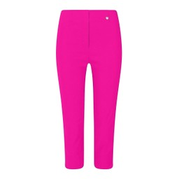 Robell Trousers Rose 07 Capri Trousers in Neon Pink