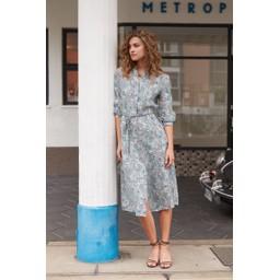 Oui Paisley Print Linen Dress - Multicoloured