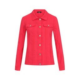 Robell Trousers Seersucker Happy Jacket in Raspberry