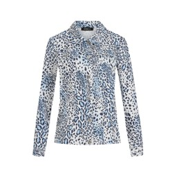 Robell Trousers Animal Print Happy Jacket - Blue Animal Print
