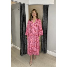 Lucy Cobb Letty Leopard Maxi Dress - Pink