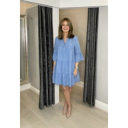 Lucy Cobb Denim Millie Tunic - Light Denim Blue