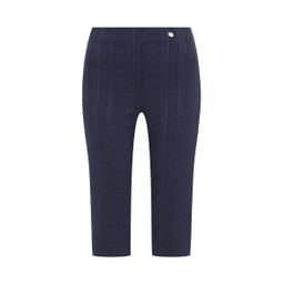 Robell Trousers Bella 05 Seersucker Shorts in Navy