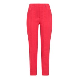 Robell Trousers Bella 09 Seersucker Trousers in Raspberry