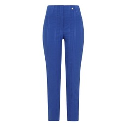 Robell Trousers Bella 09 Seersucker Trousers in Royal