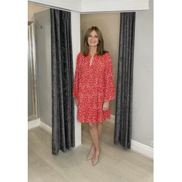 Lucy Cobb Letty Leopard Tunic - Red