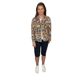 Robell Trousers Floral Happy Jacket - Floral